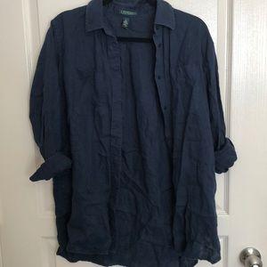 Ralph Lauren 100% Linen Button Down